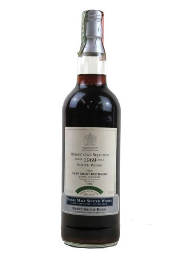 Single Malt Scotch Whisky Berrys' Own Selection  Glen Grant 1969 – 700mL