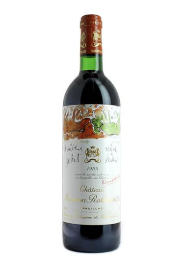 Pauillac 1er grand cru classé Château Mouton Rothschild 1989 – 750mL