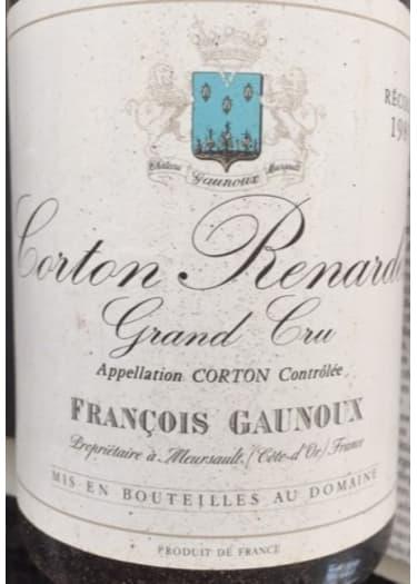 Corton Renardes Grand cru François Gaunoux 1961 – 750mL