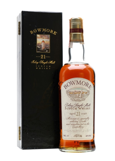 Single Malt Scotch Whisky 21 years Bowmore – 700mL