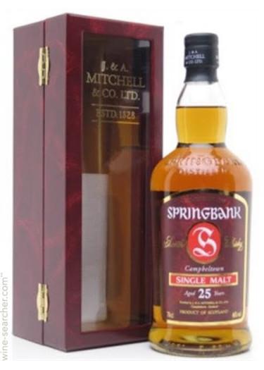 Single Malt Scotch Whisky 25 years Springbank – 700mL