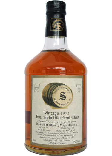 Highland Single Malt Scotch Whisky Signatory Vintage 30 years  Glenury Royal 1973 – 700mL