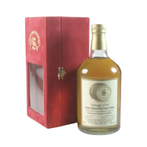 Single Malt Scotch Whisky Signatory Vintage Matured in Oak Cask  26 years Edradour 1976 – 700mL