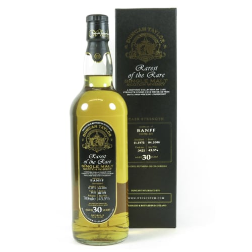 Single Malt Scotch Whisky Rarest of the Rare Duncan Taylor 30 years   Banff 1975 – 700mL