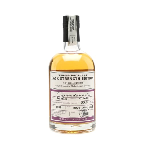 Single Malt Scotch Whisky Chivas Brothers Cask Strength Edition 16 years  Caperdonich 1988 – 500mL