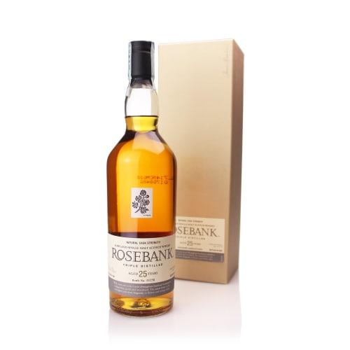 Single Malt Scotch Whisky 25 years Rosebank – 700mL