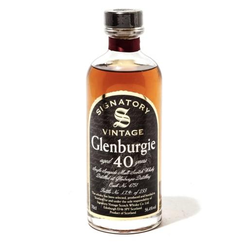 Single Malt Scotch Whisky Signatory Vintage 40 years  Glenburgie – 700mL