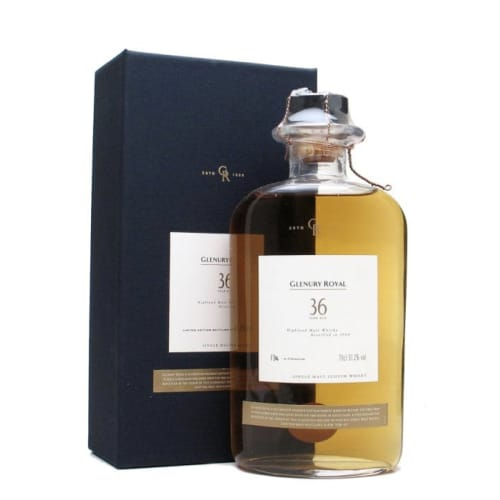 Highland Single Malt Scotch Whisky 36 years  Glenury Royal 1968 – 700mL