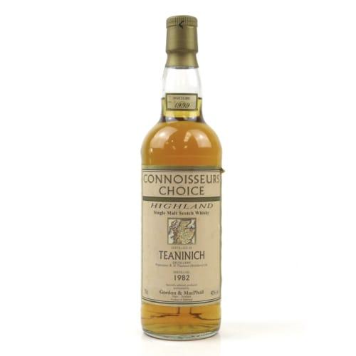 Highland Single Malt Scotch Whisky Teaninich Connoisseurs Choice  Gordon & Mac Phail 1982 – 700mL