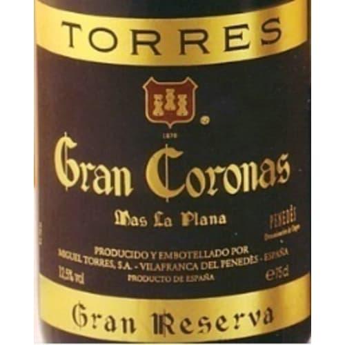 Penedès Gran reserva Mas La Plana Gran Coronas Torres 1989 – 750mL