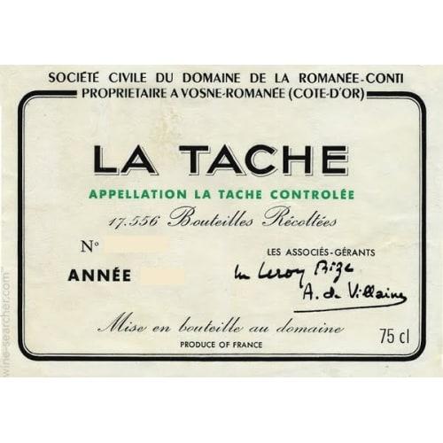 La Tâche Grand cru Domaine de la Romanée-Conti 1995 – 750mL