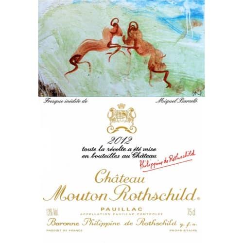 Pauillac 1er grand cru classé Château Mouton Rothschild 2012 – 750mL