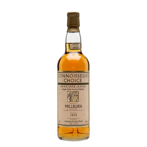 Single Malt Scotch Whisky Connoisseurs Choice   Millburn 1974 – 700mL