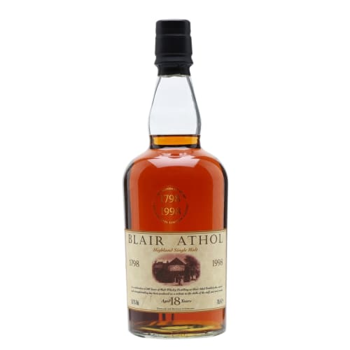 Single Malt Scotch Whisky 18 years Bicentenary Limited Edition Blair Athol – 700mL