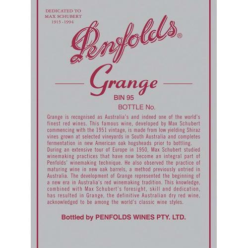 Grange Bin 95 Penfolds 1982 – 750mL