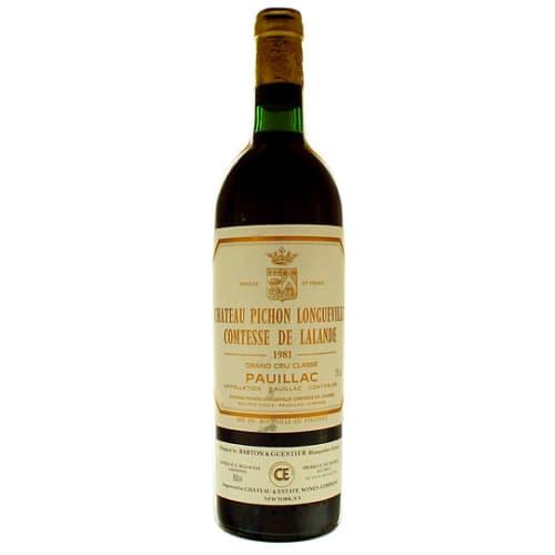 Pauillac Grand cru classé Comtesse de Lalande Château Pichon Longueville 1985 – 750mL