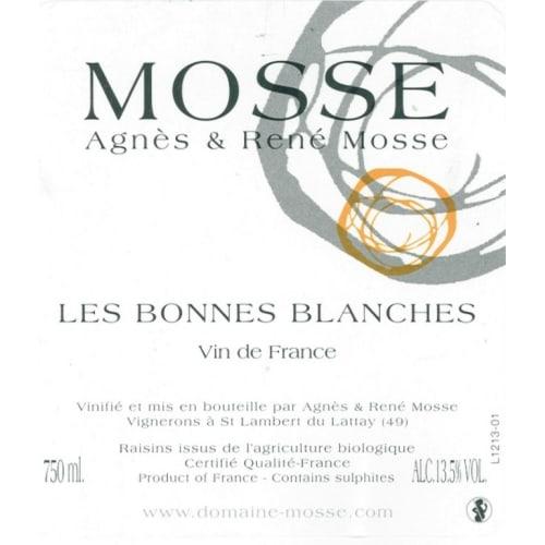 Vin de France Les Bonnes Blanches Agnès & René Mosse 2017 – 750mL
