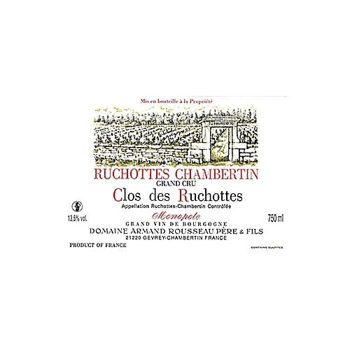 Ruchottes-Chambertin Grand cru Clos des Ruchottes Domaine Armand Rousseau Père & Fils 2002 – 750mL
