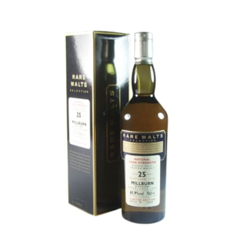 Single Malt Scotch Whisky Natural Cask Strength Rare Malts Selection 25 years   Millburn – 700mL