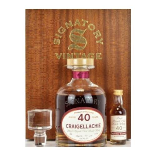Speyside Single Malt Scotch Whisky Signatory Vintage Box 40 years  Craigellachie – 700mL