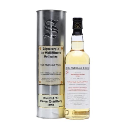 Highland Single Malt Scotch Whisky The Un-Chillfiltered Collection 20 years Brora 1981 – 700mL