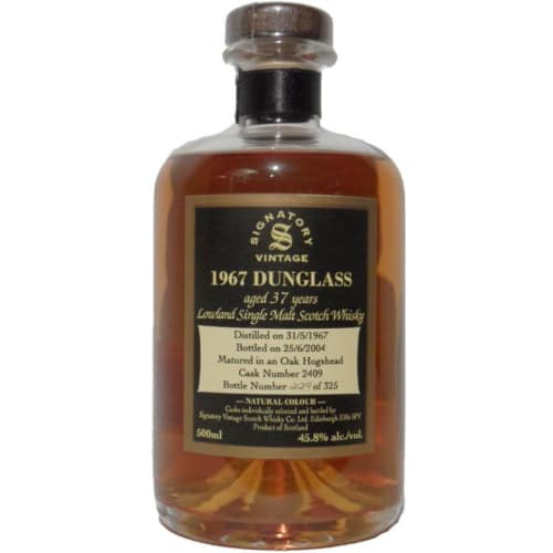 Lowland Single Malt Scotch Whisky Signatory Vintage 37 years Dunglass 1967 – 500mL