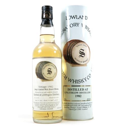 Lowland Single Malt Scotch Whisky Signatory Vintage 18 years   Linlithgow 1982 – 700mL