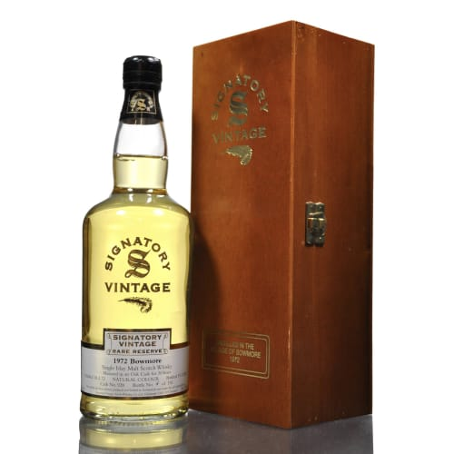 Single Malt Scotch Whisky Signatory Vintage Rare Reserve Bowmore 1972 – 700mL