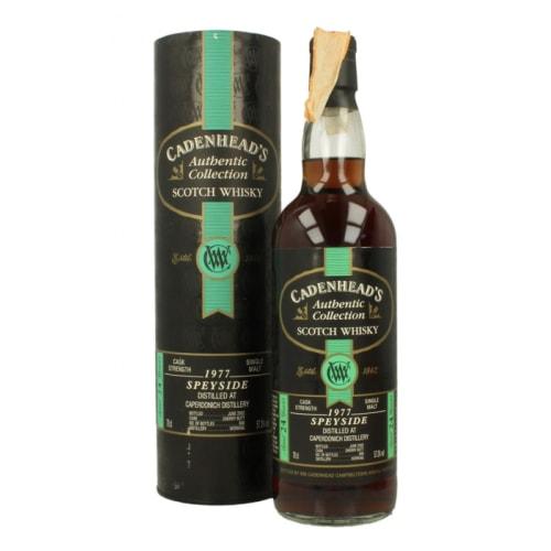 Speyside Single Malt Scotch Whisky Cadenhead's 24 years Caperdonich 1977 – 700mL