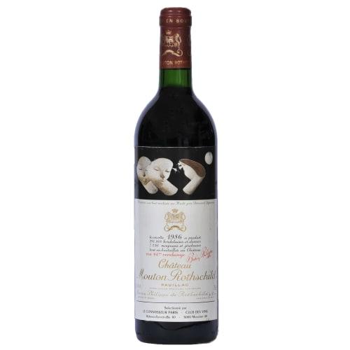 Pauillac 1er grand cru classé Château Mouton Rothschild 1986 – 750mL