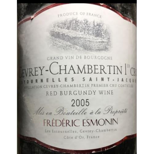 Gevrey-Chambertin 1er cru Estournelles Saint-Jacques Frédéric Esmonin 2005 – 750mL