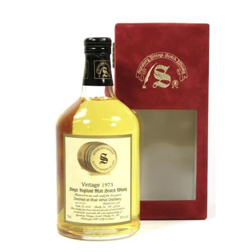 Highland Single Malt Scotch Whisky Signatory Vintage 27 years  Blair Athol 1973 – 700mL