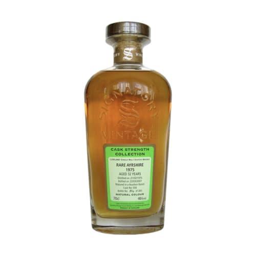 Lowland Single Malt Scotch Whisky Signatory Vintage Cask Strength Collection 32 years Rare Ayrshire 1975 – 700mL