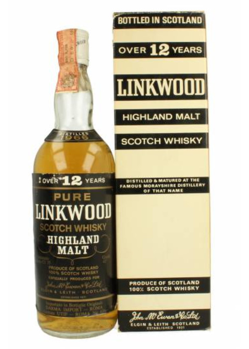 Pure Malt Scotch Whisky 12 years Linkwood 1962 – 700mL