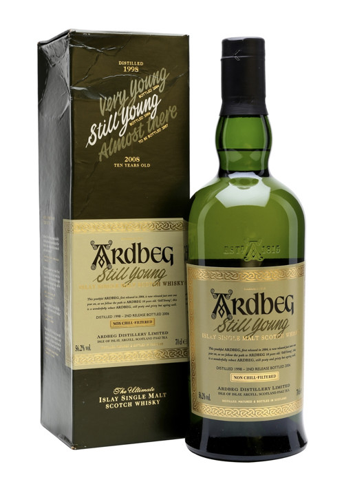 Single Malt Scotch Whisky Very Young  Ardbeg 1998 – 700mL