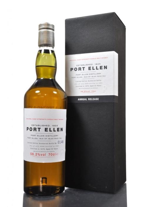 Single Malt Scotch Whisky 22 years Port Ellen 1979 – 700mL