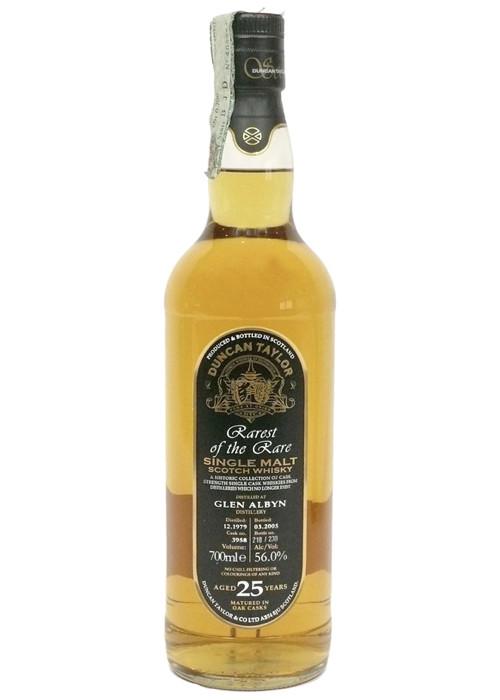 Single Malt Scotch Whisky Rarest of the Rare Duncan Taylor 25 years  Glen Albyn 1979 – 700mL