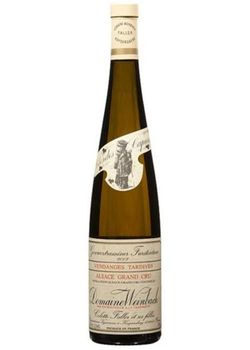 Gewürztraminer Alsace Grand cru Furstentum Vendanges Tardives Domaine Weinbach 2009 – 750mL
