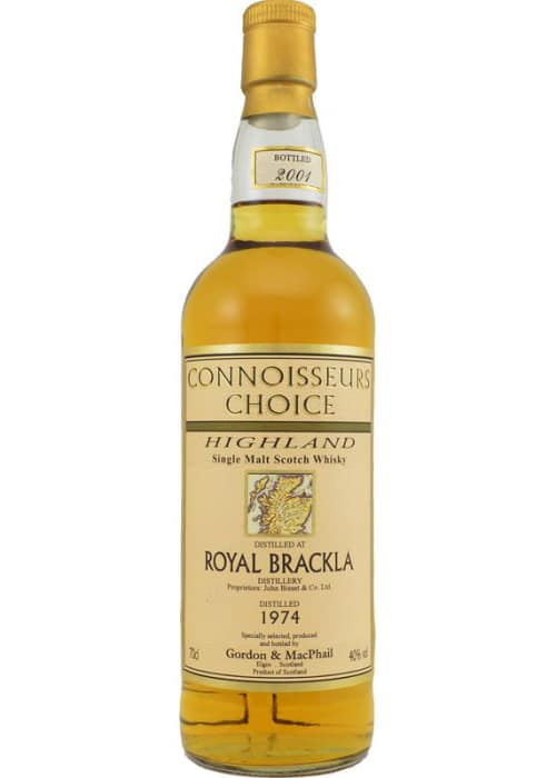 Single Malt Scotch Whisky Connoisseurs Choice Royal Brackla Gordon & Mac Phail 1974 – 700mL