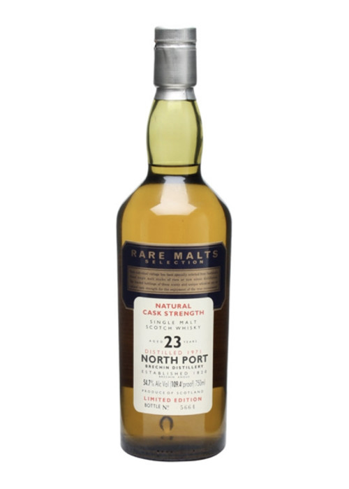 Single Malt Scotch Whisky Natural Cask Strength Rare Malts Selection 23 years   North Port 1971 – 750mL