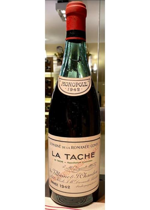 La Tâche Grand cru Domaine de la Romanée-Conti 1942 – 750ml (bouteille de collection)