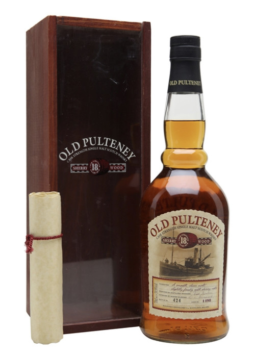 Single Malt Scotch Whisky Sherry Cask 18 years  Old Pulteney – 700mL