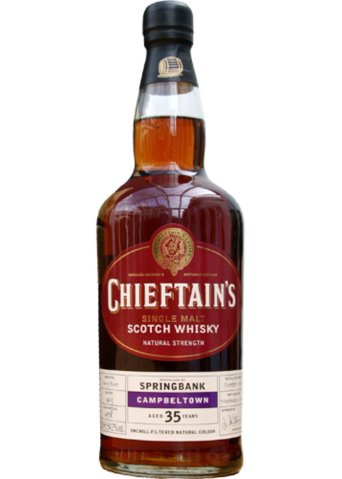Single Malt Scotch Whisky 35 years Chieftains  Springbank – 700mL