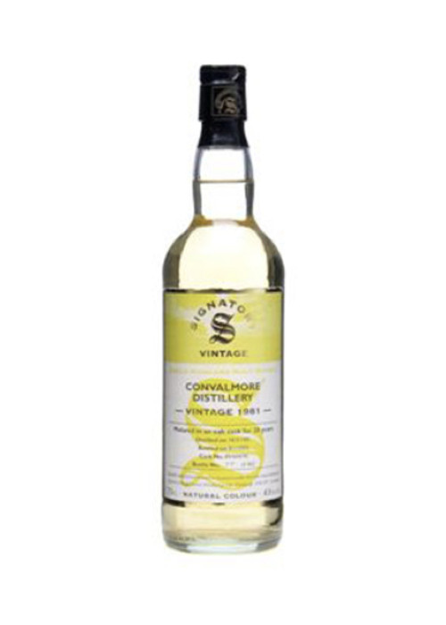 Single Malt Scotch Whisky Signatory Vintage »Mature in oak cask for 20 years» Convalmore 1981 – 700mL