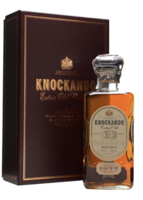 Single Malt Scotch Whisky Extra Old Knockando 1977 – 700mL