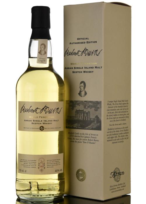 Single Malt Scotch Whisky World Federation Robert Burns Isle of Arran Distillery – 700mL