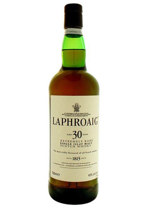 Single Malt Scotch Whisky 30 Years  Laphroaig – 750mL