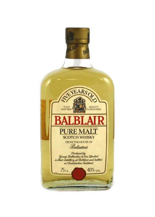 Pure Malt Scotch Whisky 5 years Balblair – 750mL