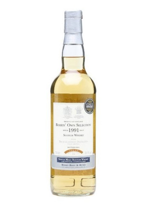 Single Malt Scotch Whisky Berrys' Own Selection Bruichladdich 1991 – 700mL
