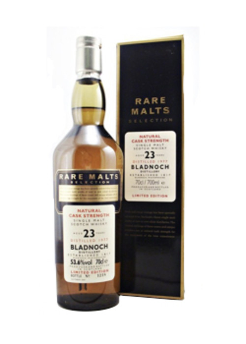 Single Malt Scotch Whisky Natural Cask Strength Rare Malts Selection 23 years Bladnoch – 700mL